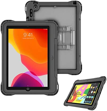 Brenthaven Edge 360 Carry Case Designed for The New Apple iPad 10.2 (7th Gen) for School and Office Use -Gray Durable Rugged ProtectionStrap Stand and Screen Shield