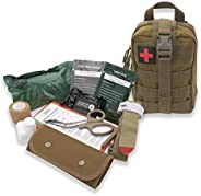 AsaTechmed Premium Rip Away IFAK MOLLE Pouch with Stop The Bleed Kit First Aid Combat Survival Kit Outdoors Hi