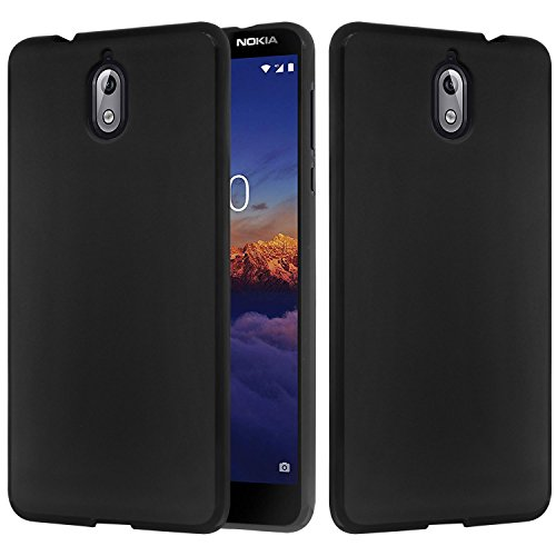Nokia 3.1 Case, Nokia 3 2018 Case, Lacass Slim Air Armor Thin Fit Silicone Gel Soft TPU Bumper Durable Flex and Easy Grip Protective Case for Nokia 3.1 (2018) - Black