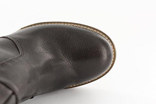 Donna Piu Damen Stiefel mit Kreppsohle Glattleder braun