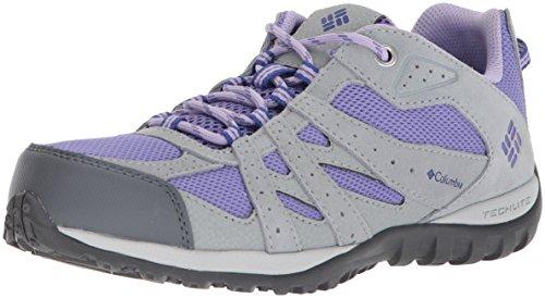 Columbia Unisex Youth Redmond Hiking Shoe, Purple Aster, Clematis Blue, 1 Regular US Little Kid ()