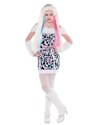 Monster High Abbey Bominable Deluxe X-large Halloween Costume with Wig XL 14-16