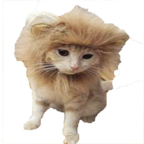 Pet Lion Mane Wig for Dog and Cat Costume Cosplay Pet Adjustable Washable Comfortable Fancy Lion Hair Camel S -