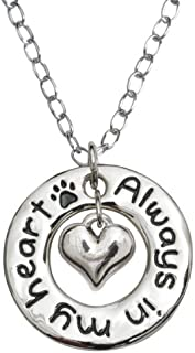 product image for Rockin Doggie Paw Necklace, Always in My Heart Hoop