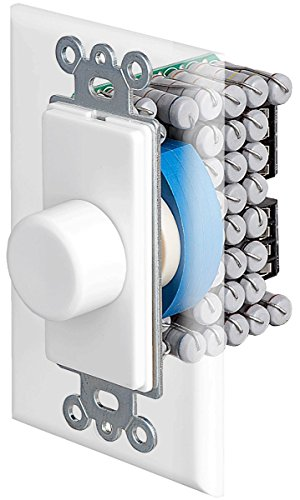 VKR120 Resistor Based 150W in-Wall Rotary Knob Home Theater Speaker Volume Control Switchable Decora Plates - OSD Audio - (White, Ivory, Almond)