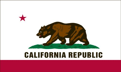 California State Flag - Nylon with Canvas Header and Grommets - 3 x 5 feet