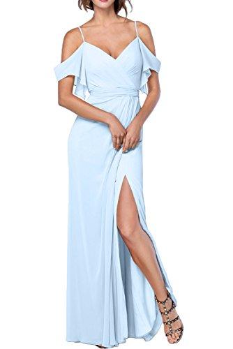 Missdressy - Vestido - trapecio - para mujer azul claro
