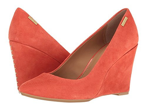 Calvin Klein Womens Celeste Suede Closed Toe Classic Pumps Deep Blush CeEF7Dbkf