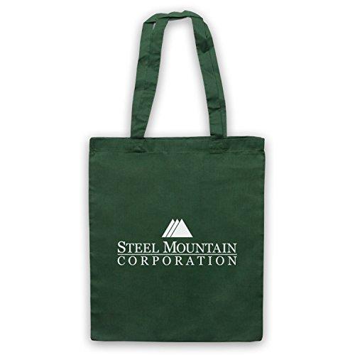 Mr Robot Steel Mountain Logo Bolso Verde Oscuro