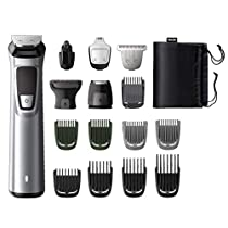 Philips Multigroom series 7000 MG7730/15 Recortadora Todo en Uno (16 en 1), Negro, Plateado