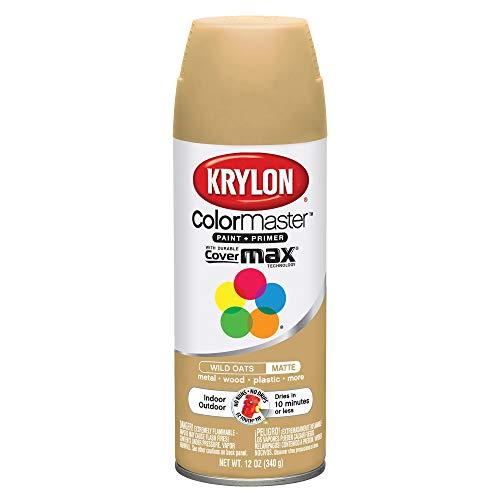 Krylon K05359002 ColorMaster Primer Aerosol Paints, 12oz, Wild Oats