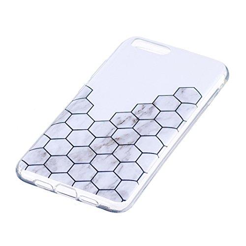 Funda de mármol para XiaoMi Mi 6, Carcasa Suave TPU Oududianzi Funda de Silicona Flexible Soft Silicone Case Casco Protectora Anti Choque - Toque Rombo de mármol