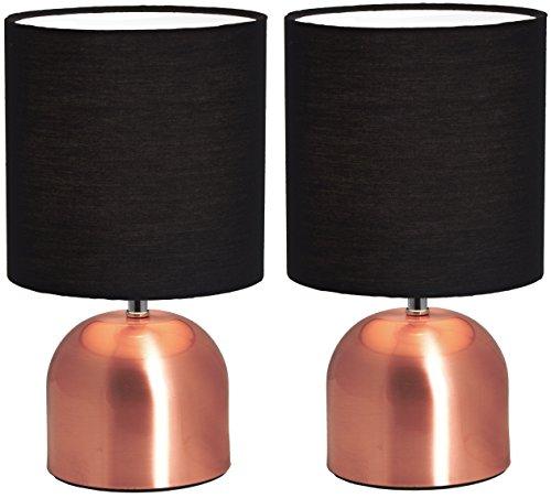 Jour Tissunoir Lot Abat Brubaker Lampe De En Hauteur 28 Cm Tablede Industriel Pied Chevet Design 2 Cuivre MVqSzUp