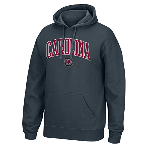 Top of the World NCAA Men's South Carolina Fighting Gamecocks Applique Arch Over Hoodie Charcoal Heather -