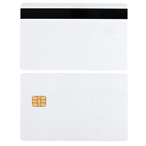 SLE4442 Chip Cards with Hi-Co Magnetic Stripe PVC SLE 4442 100 pack
