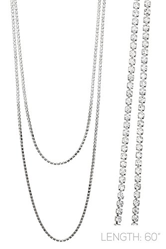 Tone Crystal Necklace (Rosemarie Collections Women's 60