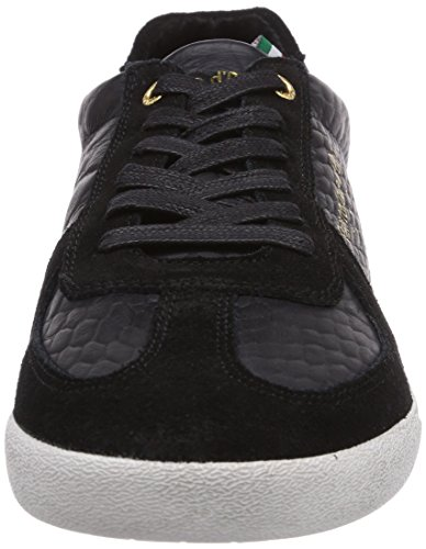 Pantofola d'Oro CARRARA LOW MEN - zapatilla deportiva de cuero hombre negro - negro