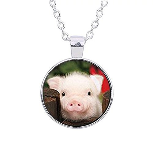Piglet Jewelry - Rose piglet necklace, little piggy jewelry pig pendant cute pig necklace animal art necklace hog Spirit animal gift sacred creature collection