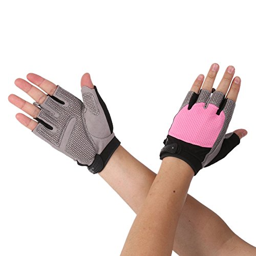 Riiya Women Gloves Half Finger Gloves for Weight Lifting Gym Training Ladies Sports Workout Fitness