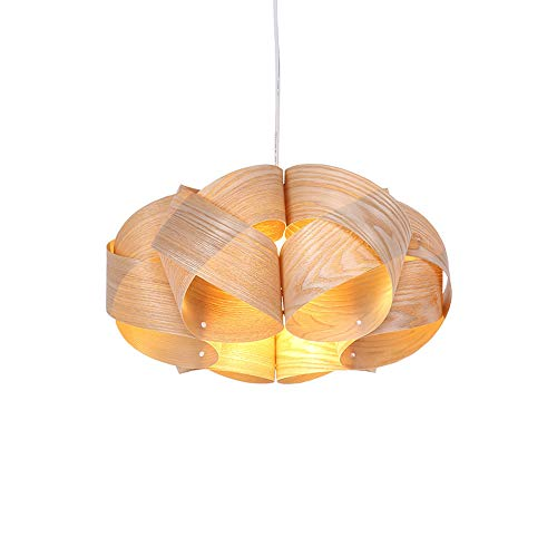 Hai Yan Boutique Lamp Chinese Creative Chandelier/Veneer Living Room Study Modern Minimalist Chandelier/Wooden - Beaded Glass Veneer
