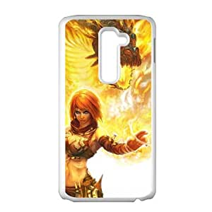 LG G2 Cell Phone Case Covers White Beast On Fire as a gift R536351