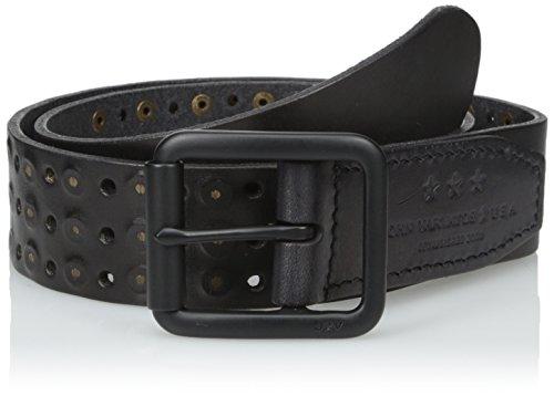 John Varvatos Star USA Men's Studded Belt 38mm, Black, 36