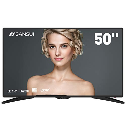 "SANSUI TV LED Televisions 50"" 4k TV with Flat Screen TV, HDMI PCA Input High Definition and Widescreen Monitor Display 4 HDMI (2018 Model)"