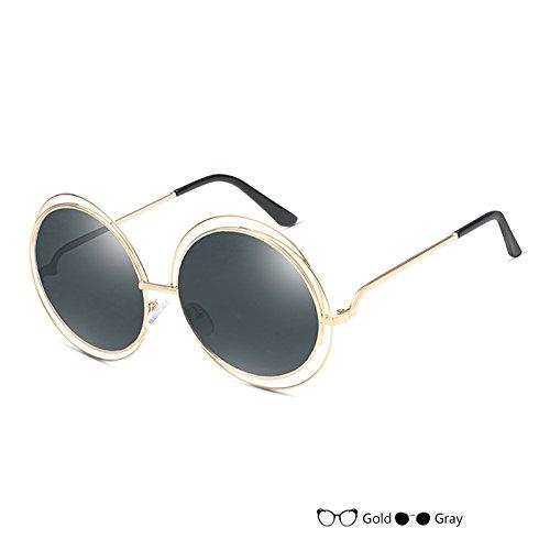 Negro L Redondas Sol Señor Mujer B Gafas TIANLIANG04 De Vintage Gafas De Lujo Del Sol Oval Gafas De wgAqxxOZa