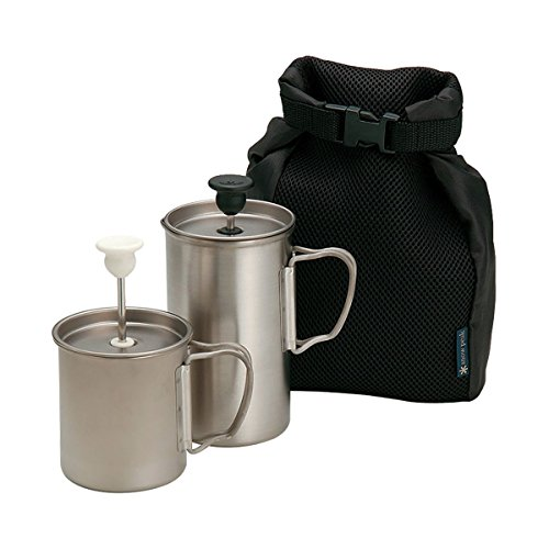 Snowpeak - Titanium Cafe Latte Set (Press Coffee Titanium)