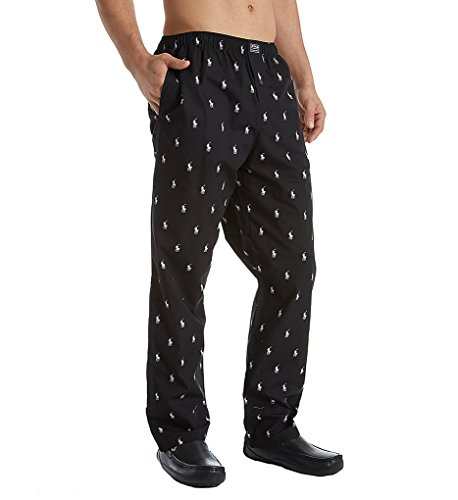 -  Polo Ralph Lauren Men's Multi-pony Pj Woven Pajama Pants (X-Large, Black)