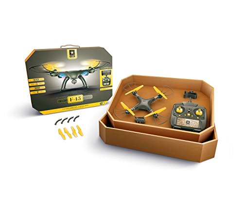 US Army F-15 Eagle Drone With FPV Wi-fi Camera Streams To Apple Or Android Devices + Altitude Hold / Auto Land /Auto Take Off + Spare Set Of Propellers – Great For Beginner And Expert Flyers
