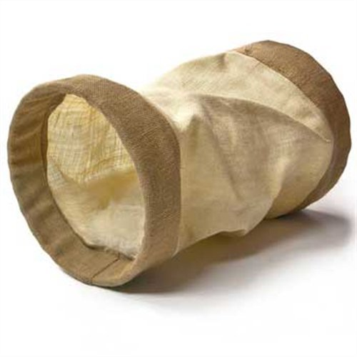 - Ware Manufacturing Woven Jute Burlap Cat Tunnel Toy with Crinkle Sound