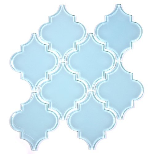 Giorbello G9133 Glass Arabesque Tile, Baby blu by Giorbello