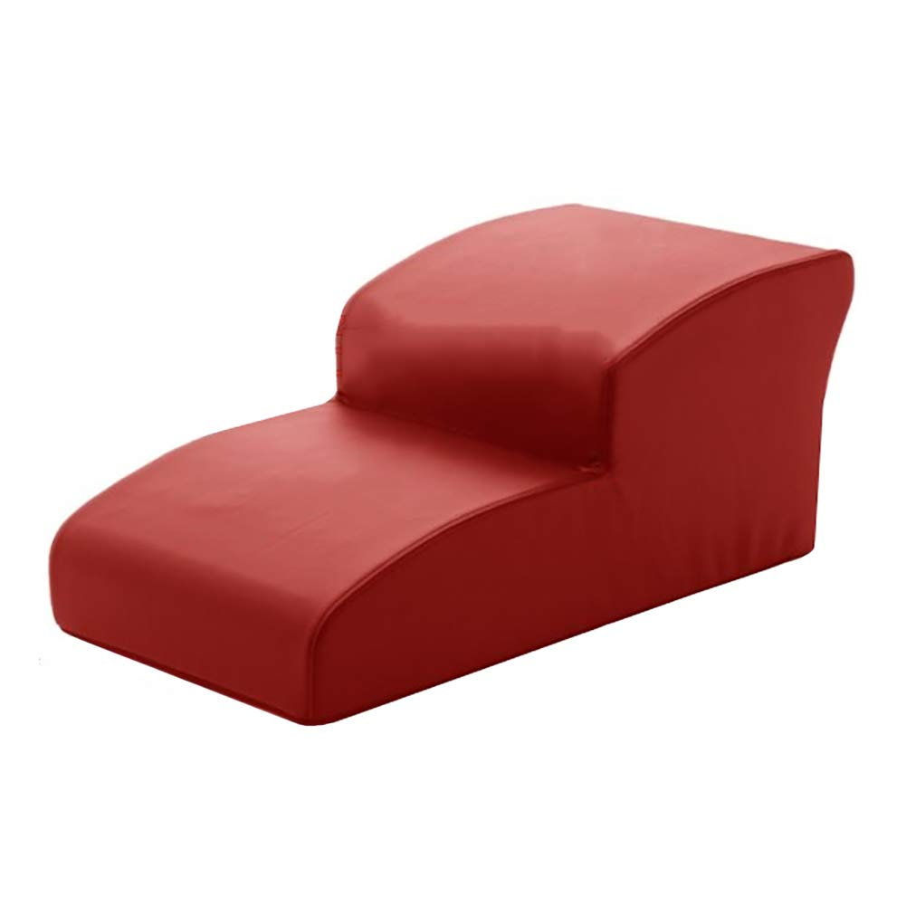 Red Small Pet Stairs 2 Step Dog Slope Go to Sofa Cat Non-Slip Bed Indoor Pet Step Stool, color Optional (color   RED)