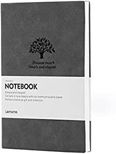 Dotted Bullet Grid Journal - Lemome Medium Size A5 Journal - Premium Thick Paper - Softcover Classic Dot Grid Pages Notebook 5.7x8.25 In