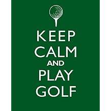 "Man Cave Decor ""Keep Calm And Play Golf"" Print"