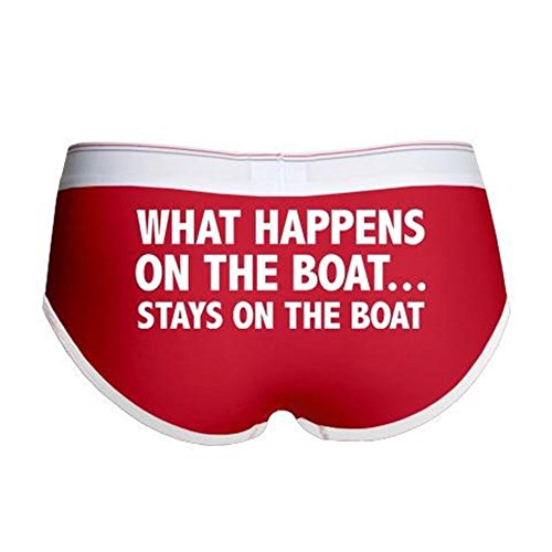 CafePress - What Happens On The Boat... - Women's Boy Brief, Boyshort Panty Underwear with Novelty (Slutty Sailor)