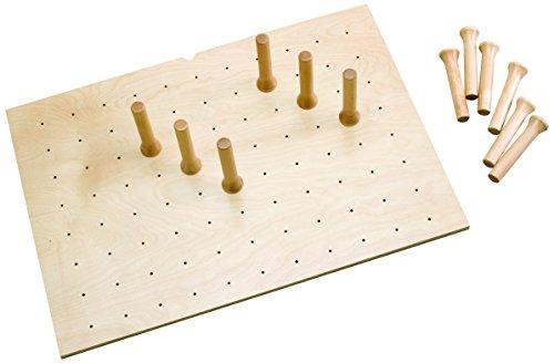 (Rev-A-Shelf Large 39 x 21 Wood Peg Board, Natural)