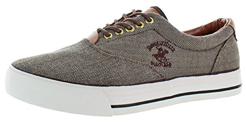 Beverly Hills Polo Club Men's Canvas Boat Sneakers Brown Size 9.5