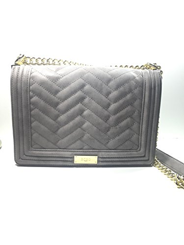 Bcbg Matte Quilted Chain Shoulder Bag Smoke B-0215