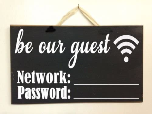 MODERN WIFI SIGN PLAQUE ADD YOUR WIFI CODE OR FREE TO USE WIFI WALL SIGN