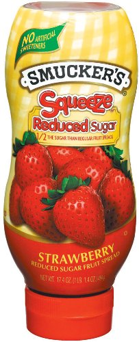 Smucker's  Squeeze8482; Reduced Sugar Strawberry Fruit Spread, 17.4-Ounce (Pack of 6)