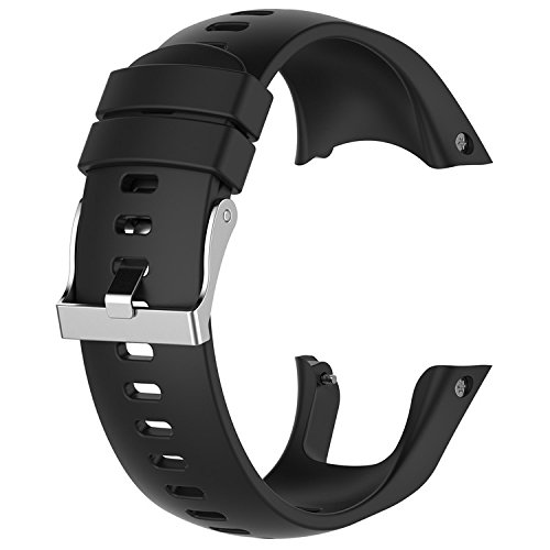 QGHXO Band for Suunto Spartan Trainer Wrist HR, Replacement Soft Silicone WristBand Strap with Metal Buckle for Suunto Spartan Trainer Wrist HR