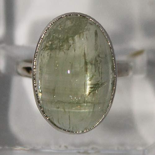 Heliodor ring, yellow beryl ring, 21x14x8 mm