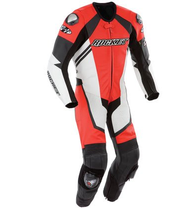 Joe Rocket Speedmaster 6.0 Men's One-Piece Motorcycle Race Suit (Red/White/Black, Size (Joe Rocket Speedmaster Leather)