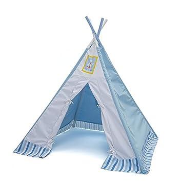 Labebe Tipi Zelt Kinderzimmer, Tipi Spielzelt Blau Für ...