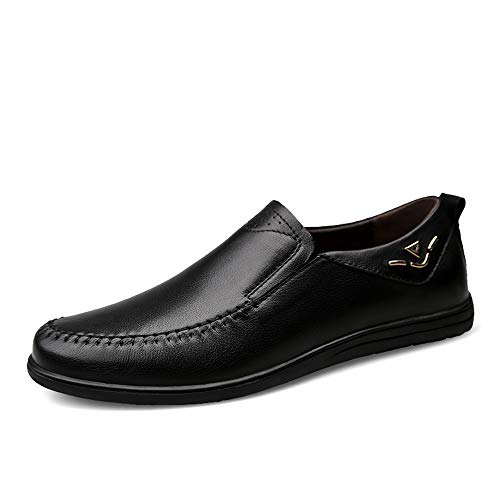 de de Brown Planos Negocio Moccasin Hombres Ocasionales Zapatos Zapatos Hcwtx de Zapatos Gommino Negro 0cm del Negro genuinos 23 Zapatos conducción Zapatos Cuero Barco tamaño 0cm 28 los de los 5TFIq