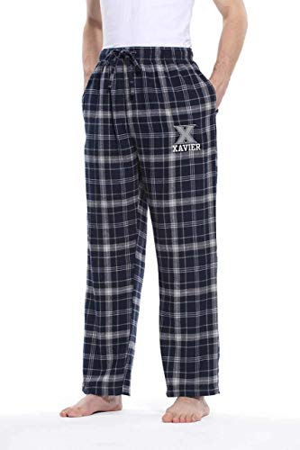 - Concept Sport Xavier Musketeers Adult NCAA Team Pride Flannel Lounge Pants - Team Color, Medium