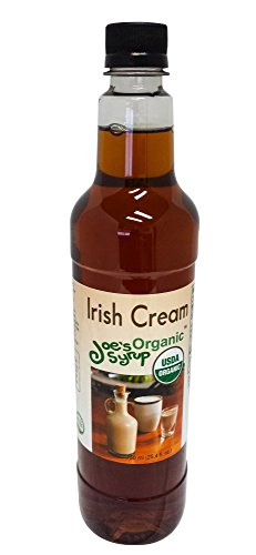 Liqueur Irish (Joe's Syrup Organic Flavored Syrup, Organic Irish Cream, 750 ml)
