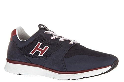 Hogan Zapatos Zapatillas de Deporte Hombres EN Piel Nuevo h254 t2015 h Flock Blu